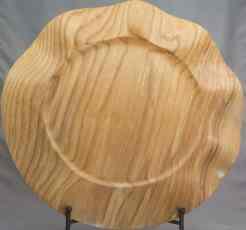 Large Ash Wavy Edge Platter