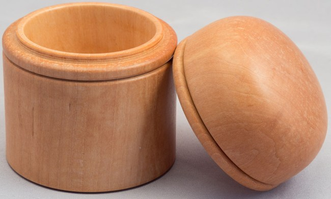 Round Top Maple Box