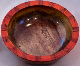 Spalted Maple with Red Rim