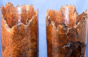 Claro Walnut Natural Edge Vase