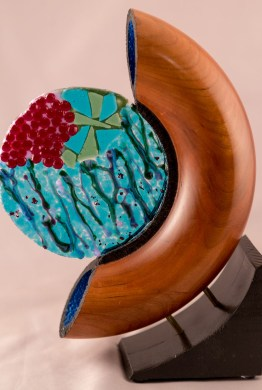 Tube with Fused Glass
