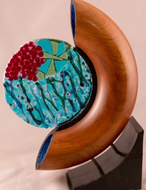 Tube Sculpture with Sunset Glass