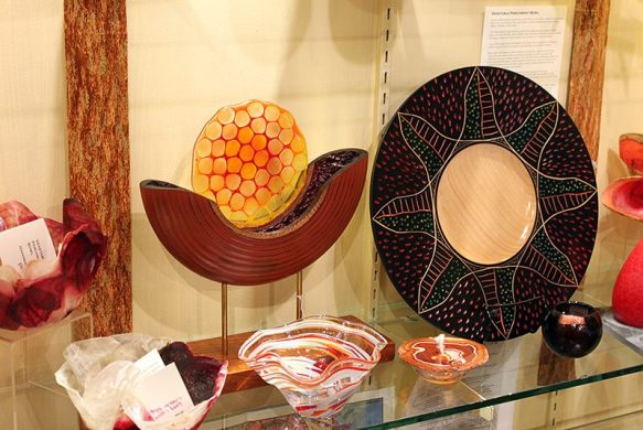 Split Turning and Carved Plate on Display at Craft Company 6