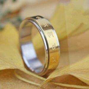 Pride Shack - Gold Mars Male Symbols Ring - Mens Gay Pride or Wedding Ring Band 4