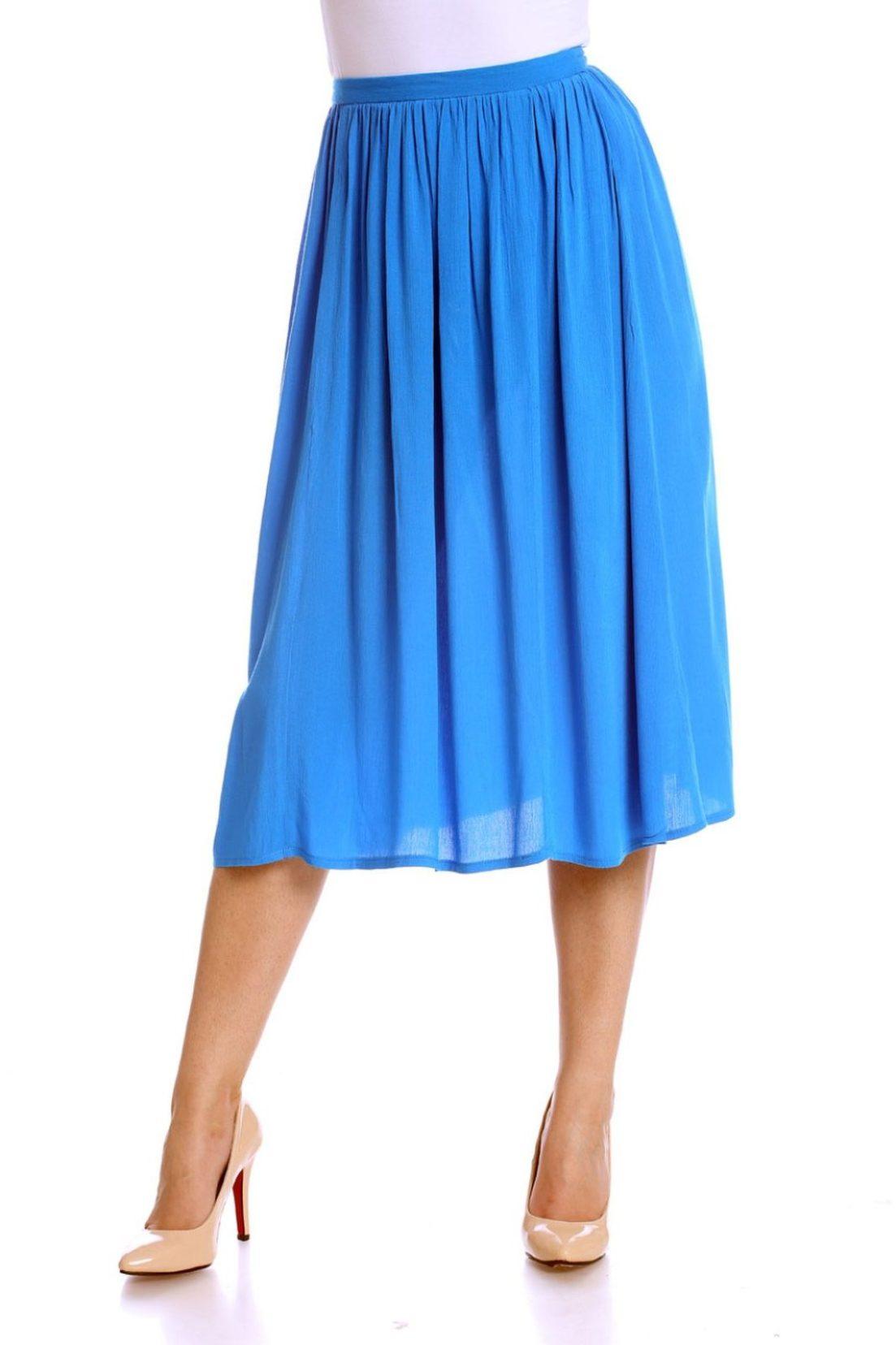 fusta midi albastra