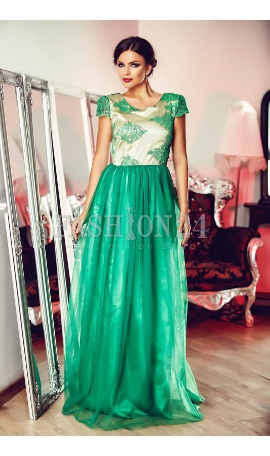 rochie-green-ornament