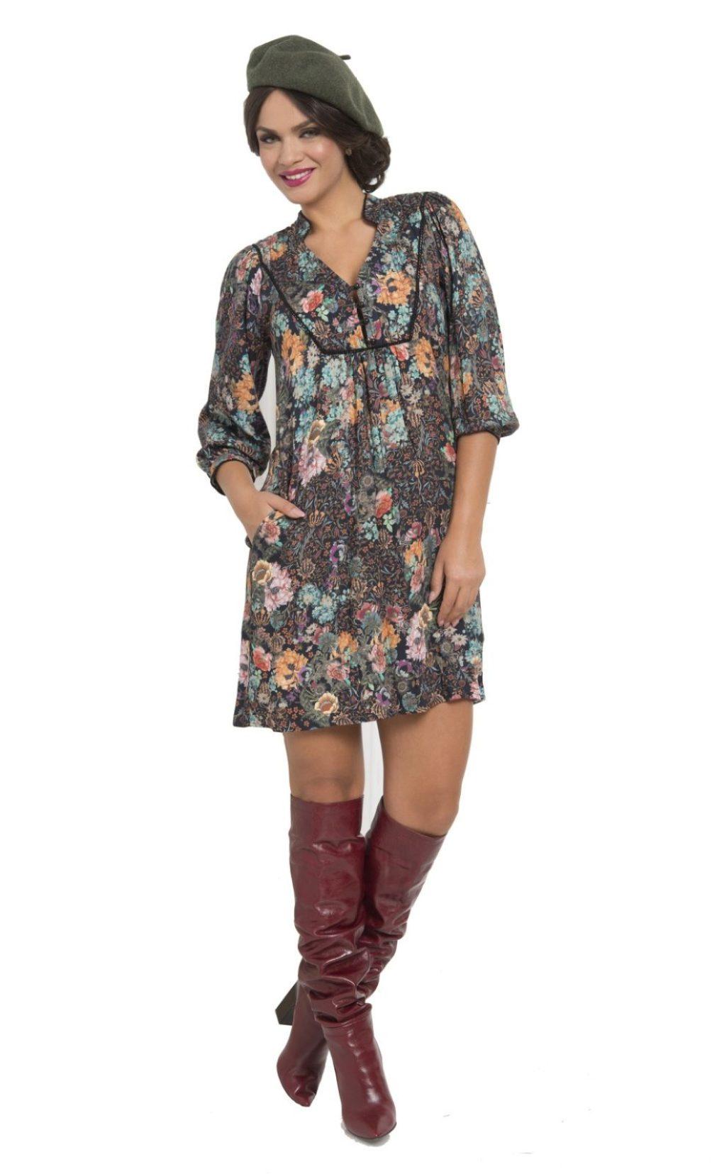 rochie mini cu croiala lejera