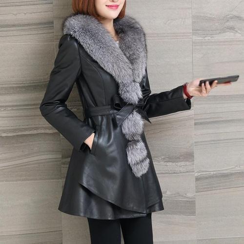palton dama cu blana