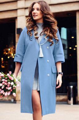 palton stofa bleu