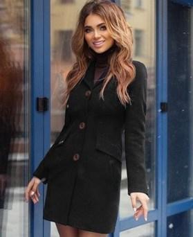 palton stofa negru