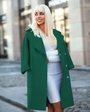 palton stofa verde