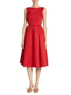 rochie rosie din satin prada