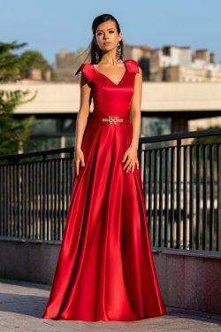 rochie lunga din satin