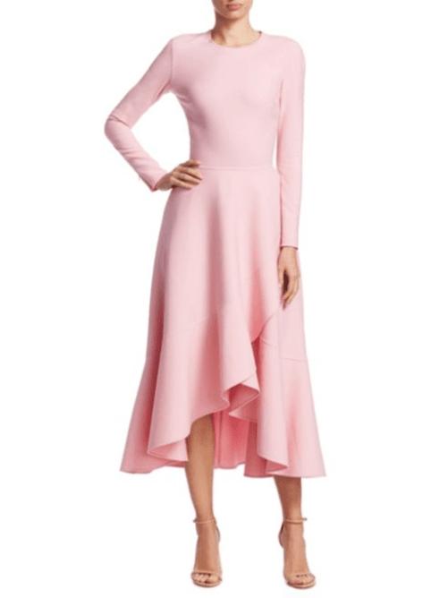 rochie midi roz prafuit