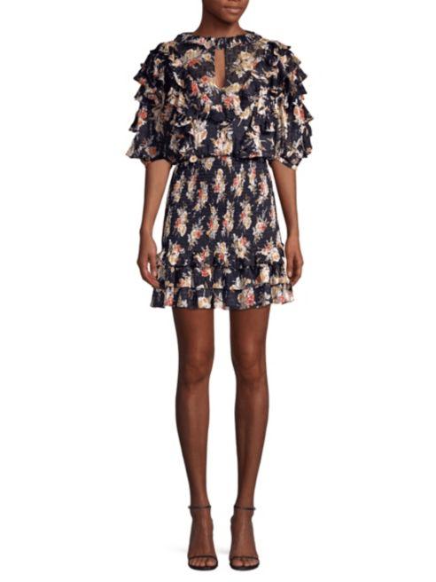 rochie mini imprimeu floral