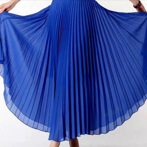 fusta maxi albastru royal