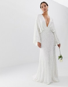 ASOS EDITION sequin kimono sleeve wedding dress