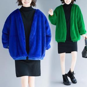 Palton calduros de toamna-iarna din imitatie de blana