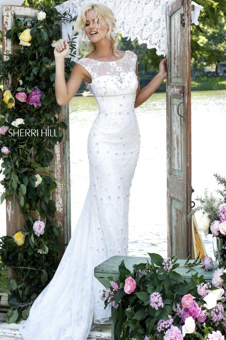 Rochie de mireasa tip sirena Sherri Hill 50069 White