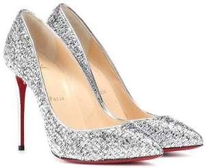 Christian Louboutin Pigalle Follies 100 metallic pumps