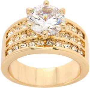 SPARKLE ALLURE Sparkle Allure Womens 5 CT. T.W. 14K Gold Over Brass Engagement Ring