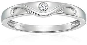 Sterling Silver Natural Zircon Solitaire Engagement Ring
