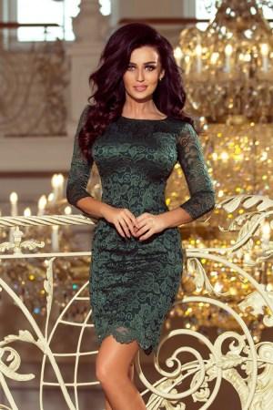 Rochie de seara eleganta verde cu dantela Numoco – 122256
