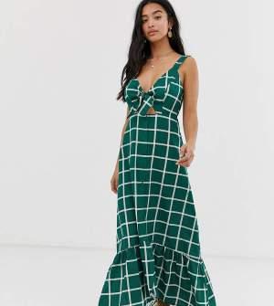 Rochie lunga verde cu imprimeu Asos