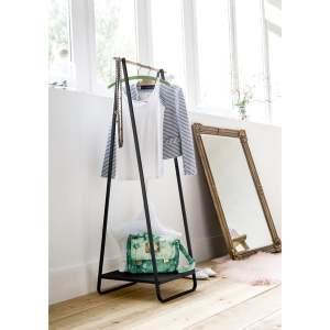 Suport pentru îmbrăcăminte cu raft Compactor Portant Blanc negru