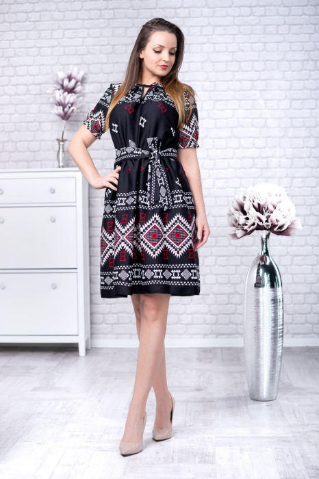 Rochie Cu Motive Traditionale Ilinca 2 Smart Shopping Online