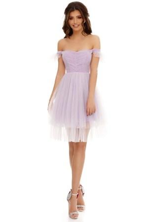 Rochie midi tip corset cu două straturi de tull