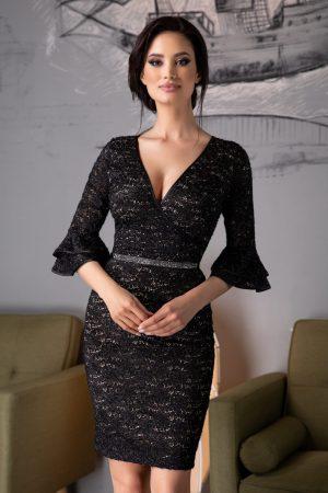 Rochie eleganta din dantela neagra Eloise
