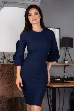 Rochie scurta eleganta bleumarin