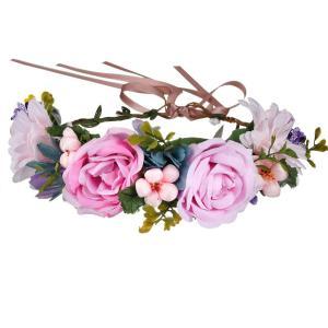 Coronita din flori artificiale pentru par