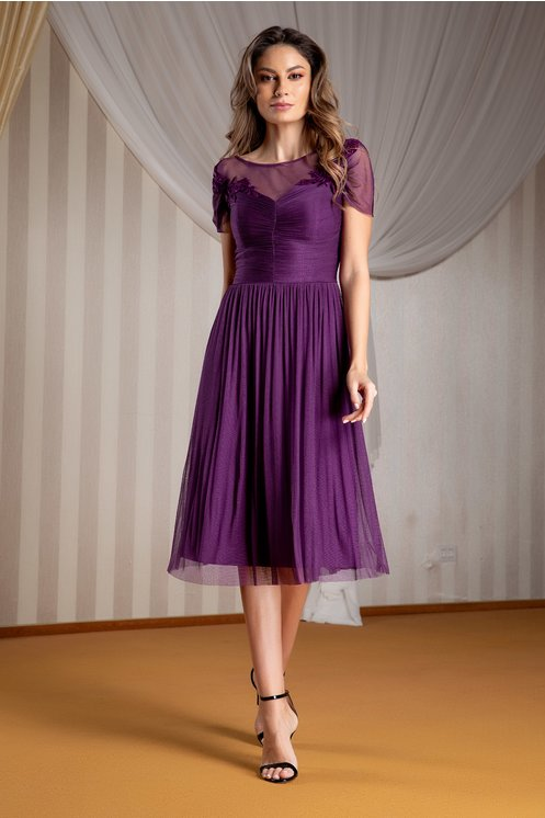 Rochie de seara eleganta din matase plus size
