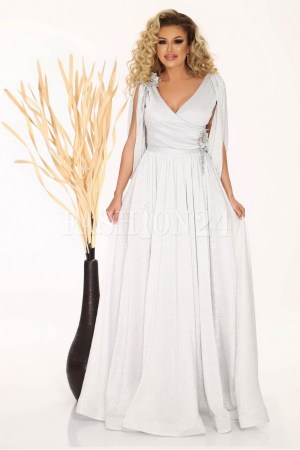 Rochie de seara lunga eleganta cu decolteu in v