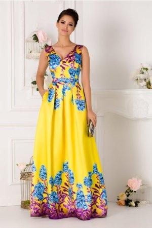 Rochie de seara lunga eleganta din tafta