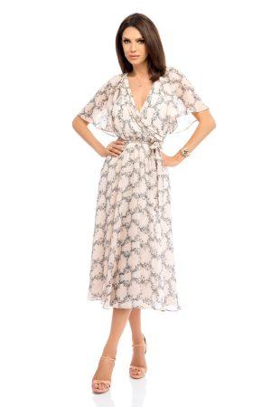 Rochie de zi midi cu imprimeu floral