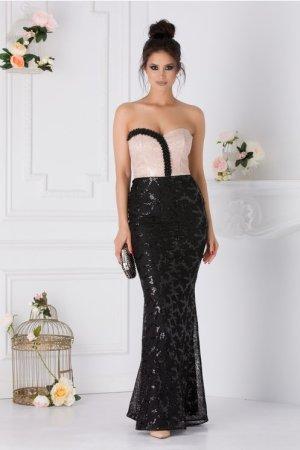Rochie eleganta lunga de seara cu perlute