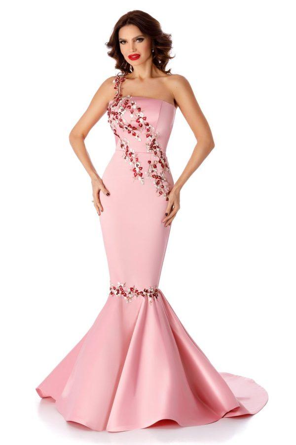 Rochie roz de ocazie tip sirena