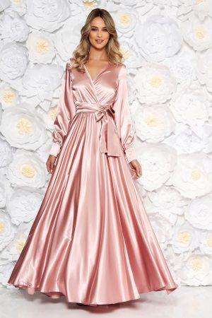 Rochie roz prafuit de ocazie lunga in clos