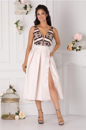 Rochie de ocazie eleganta cu decolteu in v