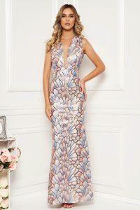 Rochie de ocazie eleganta tip sirena