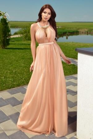 Rochie de seara lunga eleganta bej
