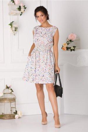 Rochie de zi scurta cu imprimeu colorat