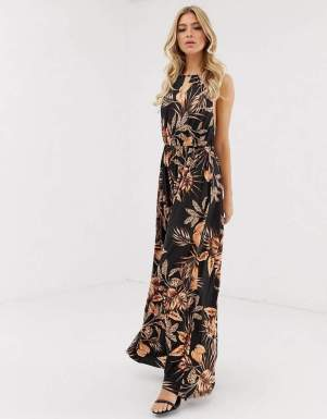 Rochie maxi de vara cu print floral