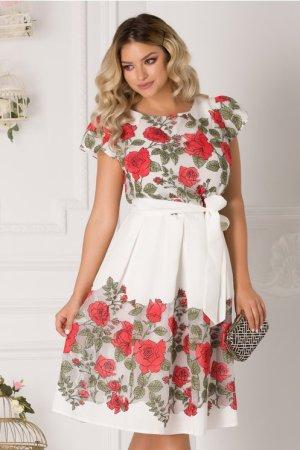 Rochie scurta de zi plus size cu imprimeu floral