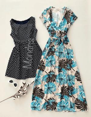 Doua rochii de vara albastra si bleumarin la doar 99 RON!