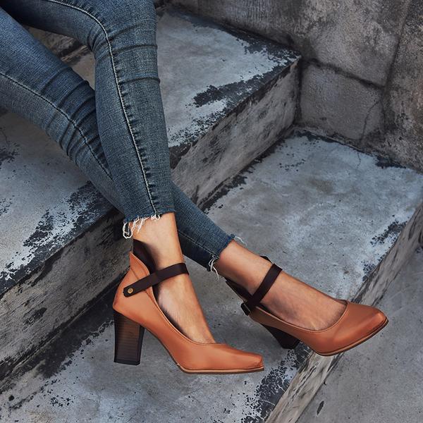 Pantofi dama eleganti cu toc gros