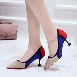 Pantofi eleganti si colorati cu toc